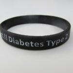 Type 2 silicone wristband black