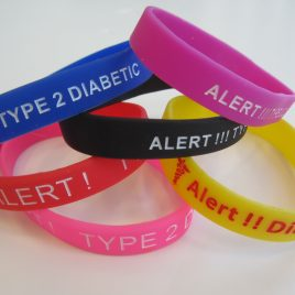 Adult Size Type 2 Diabetes Medical Alert Wristband