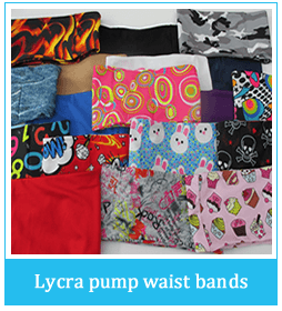 Lycra Pump Waist Bands
