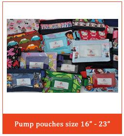 """Pump Pouches Size 16""""-23"""""""