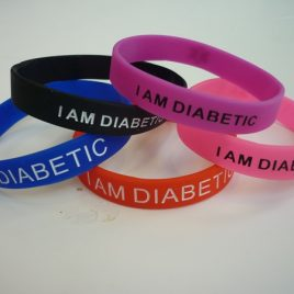 I Am Diabetic Silicone Wristband