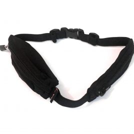 Child Dual Pocket Spibelt In Plain Black & buttonhole