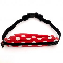 Child Spibelt in Red Polka Dot with buttonhole