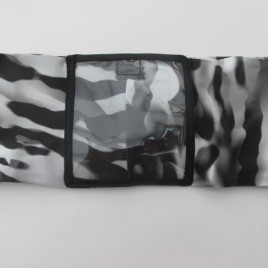 Zebra Lycra Band with clear vinyl pocket ( small )