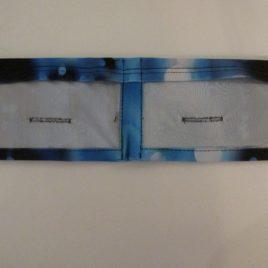 Blue Frozen Slim Dual Vinyl Pocket Lycra Band  (x large)