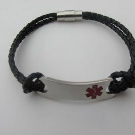 Stainless Steel Youth and Adult Medical Alert Bracelet