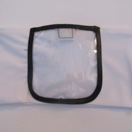 White Lycra Band with clear screen vinyl pocket (large)