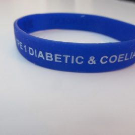 ADULT WRISTBAND – TYPE 1 & COELIAC – BLUE