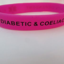 ADULT WRISTBAND – TYPE 1 & COELIAC – MAGENTA