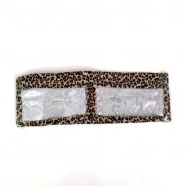 Leopard Slim Dual Clear Screen Pocket Lycra Band (small)