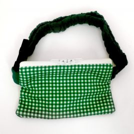 Green Gingham Pump Pouch 16″ – 23″