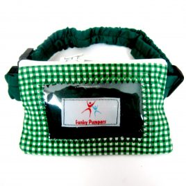 Green Gingham Clear Screen Pump Pouch 16″ – 23″