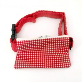 Red Gingham Pump Pouch 32″ – 40″