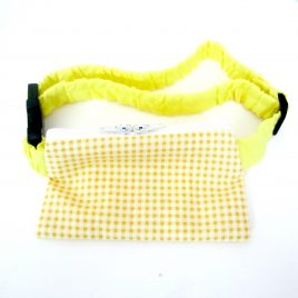 Yellow Gingham Pump Pouch 16″ – 23″