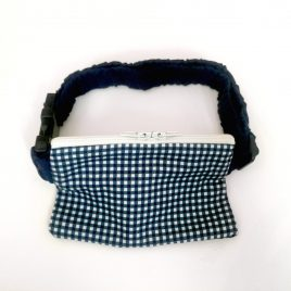 Blue Gingham Pump Pouch 16″ – 23″