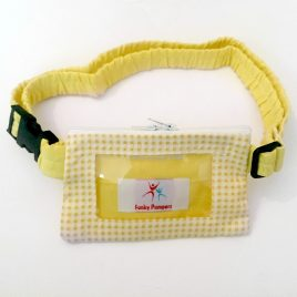 Yellow Gingham Clear Screen Pump Pouch 32″ – 40″