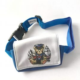 Teddy Sailor Velcro Pump Pouch