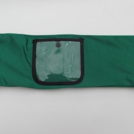 Emerald Green Lycra Band with clear vinyl pocket ( large )