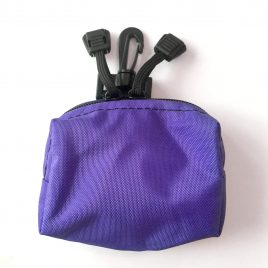 Purple splash Pouch with hook
