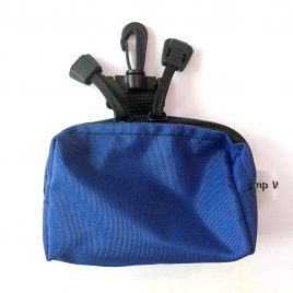 Blue Splash Pouch with Hook