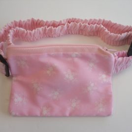 Pink and white flowers pouch 32 – 40″