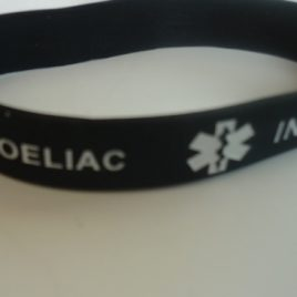 ADULT WRISTBAND – TYPE 1 & COELIAC – BLACK