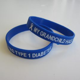 My Grandchild Has Type 1 Diabetes Wristband (ADULT)