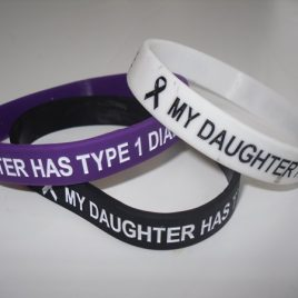 My Daughter Has Type 1 Diabetes Wristband (ADULT)