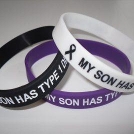 My Son Has Type 1 Diabetes Wristband (ADULT)