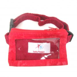 Red Tie-Dye Clear Screen Pump Pouch 16″ – 23″