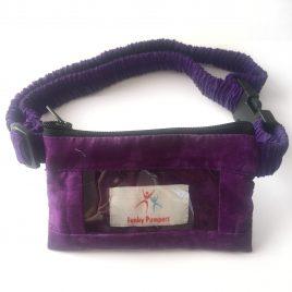 Purple Tie-Dye Clear Screen Pump Pouch 24″ – 30″