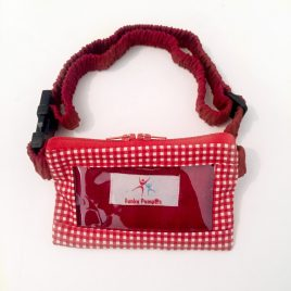 Red Gingham Clear Screen Pump Pouch 24″ – 30″