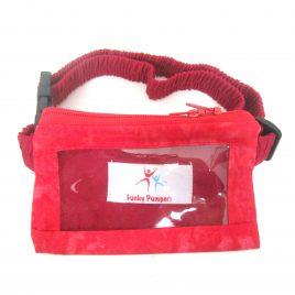 Red Tie-Dye Clear Screen Pump Pouch 24″ – 30″