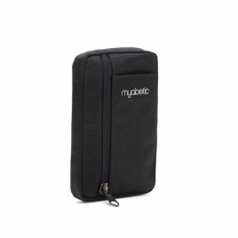 Myabetic Eli Diabetes Supply Pouch (Black Nylon)