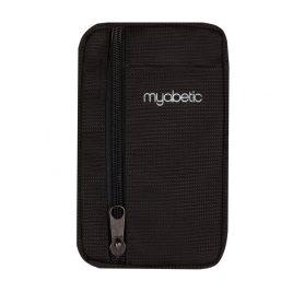 Myabetic Eli Diabetes Supply Pouch (Black Nylon)