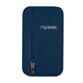 Myabetic Eli Diabetes Supply Pouch (Blue Nylon)