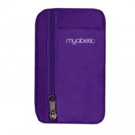Myabetic Eli Diabetes Supply Pouch (Purple Nylon)