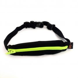 Child SpiBelt in black with Lime Green Zip & Buttonhole