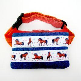 Horses Denim Ribbon Pump Pouch 16″ – 23″