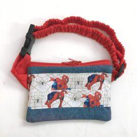 Spiderman Ribbon Denim Pump Pouch 16″ – 23″