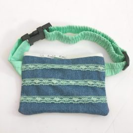 Green Lace Denim Pump Pouch 16″ – 23″