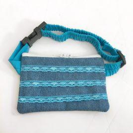 Blue Lace Denim Pump Pouch 16″ – 23″