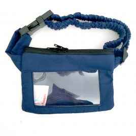 Navy Blue Clear Screen Pump Pouch 24″ – 30″