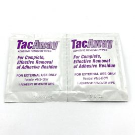TacAway Adhesive Remover Wipes (2 wipes)