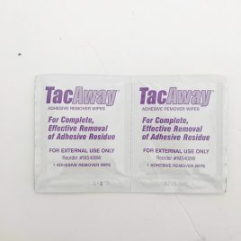 TacAway Adhesive Remover Wipes (Sample Pack)