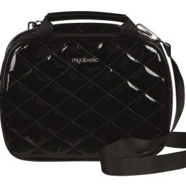 Myabetic Thompson Diabetes Travel Carry All (Quilted Black Gloss)