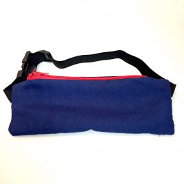 Navy Blue (Red zip) Insulin Waist Pen Pouch 16″-23″ (SECONDS)