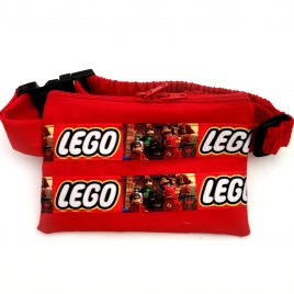 Red Lego Logo Ribbon Pump Pouch 24″ – 30″