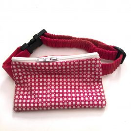 Pink Chequered Pump Pouch 32″-40″