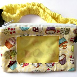 Cupcakes Yellow Clear Screen Pump Pouch 16″- 23″